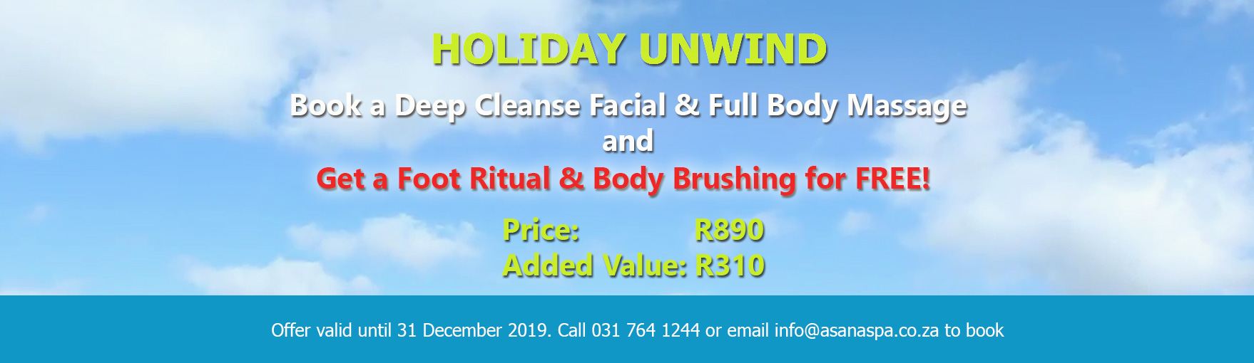 Beauty Spa Specials , Kloof, Natal